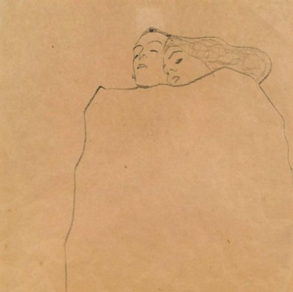 Egon Schiele - Sleeping couple-December 2019