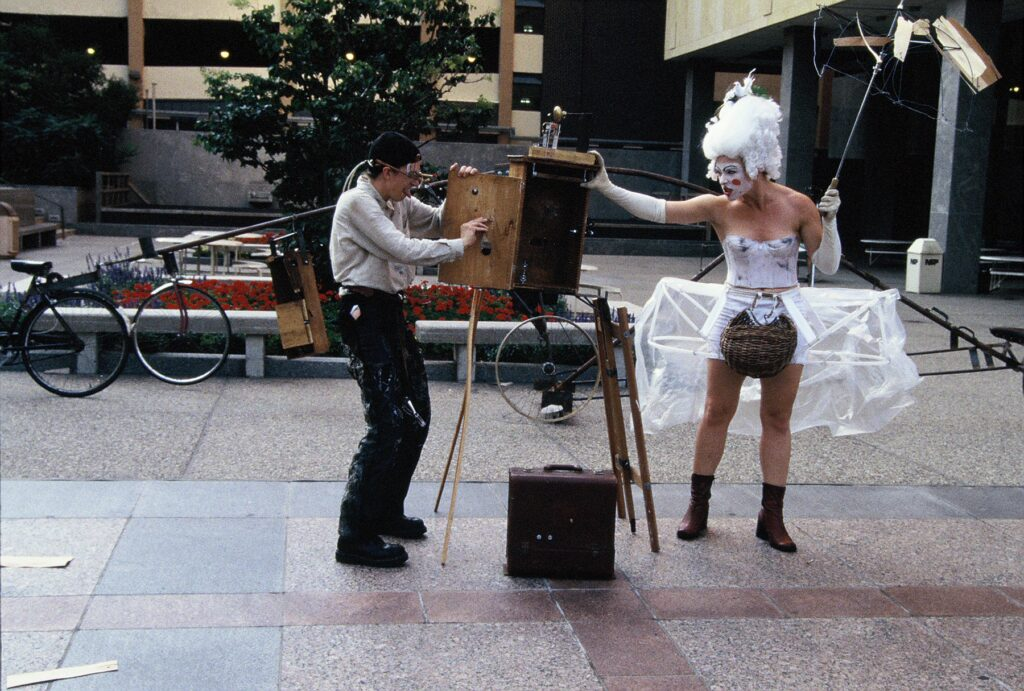 The Eye in the Door - by Charles Campbell and Steve Epley, August 1999 - photos street performers