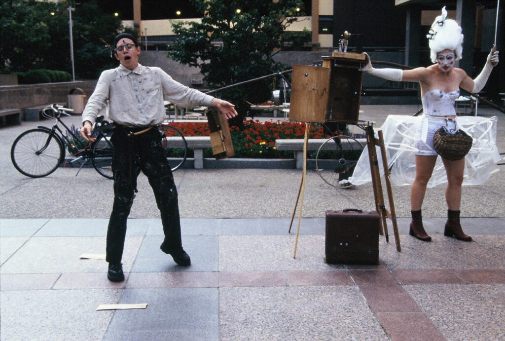 by Charles Campbell and Steve Epley, August 1999 - photos street performers