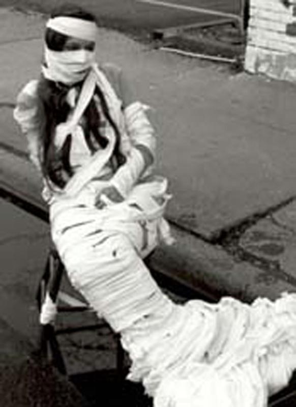 photo from Urban Sirens - a mermaid woman bandaged
